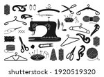 sewing tools black glyph set ... | Shutterstock .eps vector #1920519320