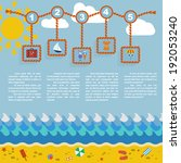 summer infgraphic template | Shutterstock .eps vector #192053240