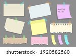 modern paper notes on stickers... | Shutterstock .eps vector #1920582560