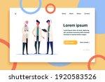 three doctors talking....   Shutterstock .eps vector #1920583526
