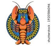 lobster restaurant logo  vector ... | Shutterstock .eps vector #1920586046
