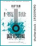 jazz music  poster background... | Shutterstock .eps vector #192059090