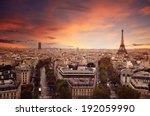 paris skyline | Shutterstock . vector #192059990
