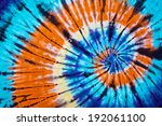close up shot of tie dye fabric ... | Shutterstock . vector #192061100