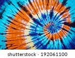 close up shot of tie dye fabric ...   Shutterstock . vector #192061100