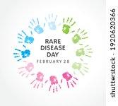 illustration of rare disease... | Shutterstock .eps vector #1920620366