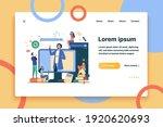 teacher reading lecture online... | Shutterstock .eps vector #1920620693