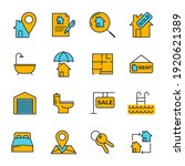 set of real estate icon. real...   Shutterstock .eps vector #1920621389