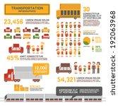 transportation infographics | Shutterstock .eps vector #192063968