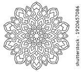 line mandala arabesque art ... | Shutterstock .eps vector #1920657086