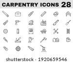 28 carpentry line art icon in... | Shutterstock .eps vector #1920659546