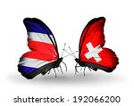 two butterflies with flags on... | Shutterstock . vector #192066200