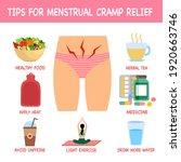 tips for menstrual cramp relief ... | Shutterstock .eps vector #1920663746