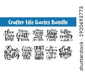 hand drawn crafter lettering ...   Shutterstock .eps vector #1920693773