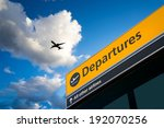 airport departure and arrival... | Shutterstock . vector #192070256