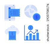 fintech icons set   receipt ... | Shutterstock .eps vector #1920708176