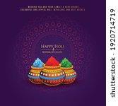 happy holi indian hindu... | Shutterstock .eps vector #1920714719