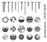 screws  nuts and rivets icons... | Shutterstock .eps vector #192073649