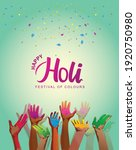 indian festival happy holy... | Shutterstock .eps vector #1920750980