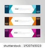 vector abstract banner design... | Shutterstock .eps vector #1920765023