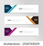 vector abstract banner design... | Shutterstock .eps vector #1920765029