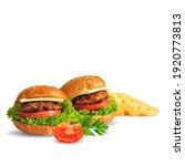hamburger low poly. fresh ... | Shutterstock .eps vector #1920773813