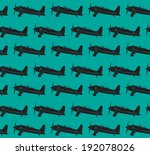 retro planes pattern. eps10...   Shutterstock .eps vector #192078026