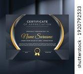 premium unique certificate and... | Shutterstock .eps vector #1920792533