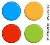 four colored magnets   buttons | Shutterstock .eps vector #192080780