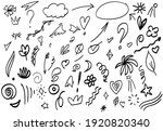 hand drawn abstract arrows ... | Shutterstock .eps vector #1920820340
