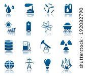 energy and resource icon set.... | Shutterstock . vector #192082790