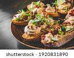 Fresh Bruschettas Pate In Plate ...