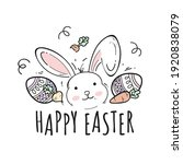 doodle style happy easter... | Shutterstock .eps vector #1920838079