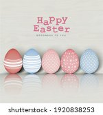 set of colorful eggs in... | Shutterstock .eps vector #1920838253