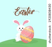 happy easter with bunny ... | Shutterstock .eps vector #1920838430