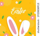 happy easter with bunny ear and ... | Shutterstock .eps vector #1920838913