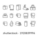 paper towels flat icon set....   Shutterstock .eps vector #1920839996