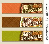 banners for thanksgiving day... | Shutterstock . vector #1920847916