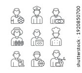 professions linear icons set....   Shutterstock .eps vector #1920850700
