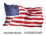 american flag waving in the... | Shutterstock . vector #1920853349