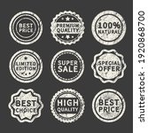 set of retro vintage badges and ... | Shutterstock .eps vector #1920868700