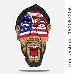 football fan from usa | Shutterstock .eps vector #192087206