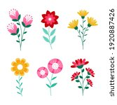spring flowers. summer and...   Shutterstock .eps vector #1920887426