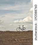 ends of the earth. bike at sky... | Shutterstock . vector #192088760