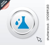 chemistry sign icon. bulb...