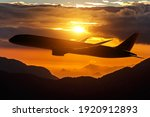 Black Silhouette Of An Airplane ...