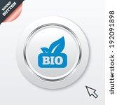 bio product sign icon. leaf...