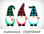 buffalo plaid gnome set. gnomes ... | Shutterstock .eps vector #1920920669