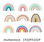 cute colorful rainbows set.... | Shutterstock .eps vector #1920951029