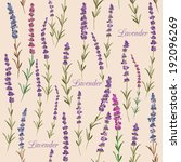 seamless pattern with lavender. ... | Shutterstock .eps vector #192096269